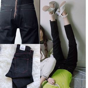 Agolde x opening ceremony black jeans rainbow high
